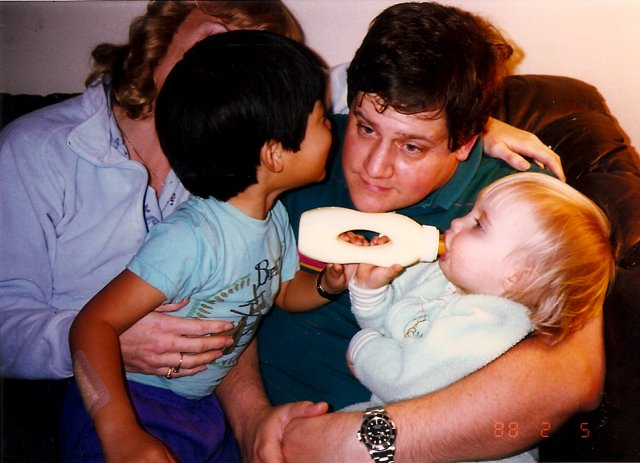 Mark holding Andrew and Jennifer - Courtesy Mike Schlags
